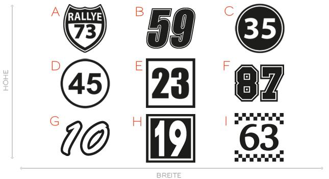 Details Zu 2x Startnummer Aufkleber Auto Motorrad Startnummern Nummer 8 25cm 1009