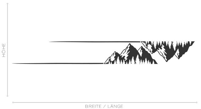 Auto Aufkleber Berge Silhouette Wald Natur Landschaft Outdoor Sticker #1386
