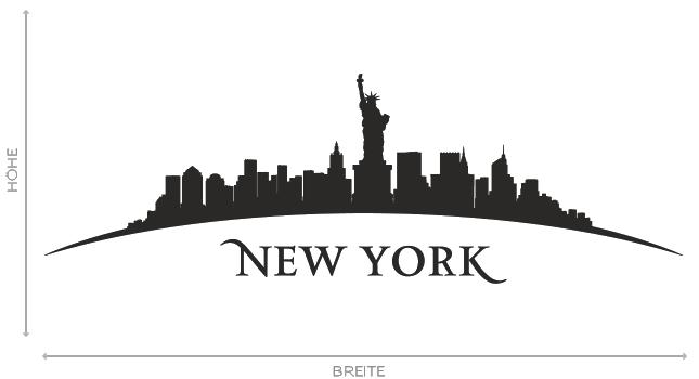 wandtattoo new york stadt skyline silhouette aufkleber. Black Bedroom Furniture Sets. Home Design Ideas
