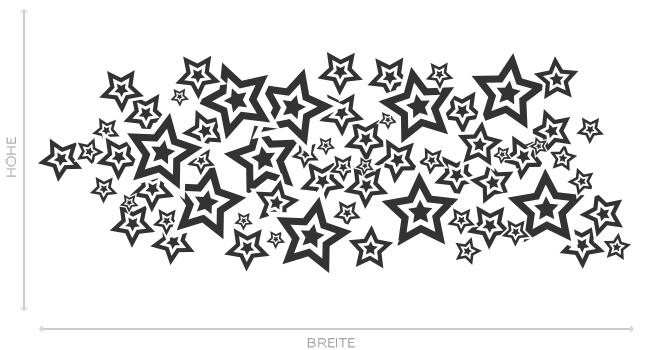 Wandtattoo Abstrakt Sterne Nachthimmel Aufkleber Wall Art Wand Tattoo #2161